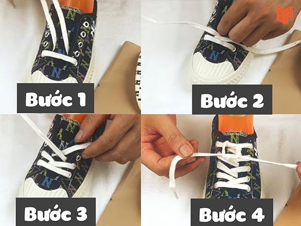 Cách thắt dây giày cho giày lười MLB