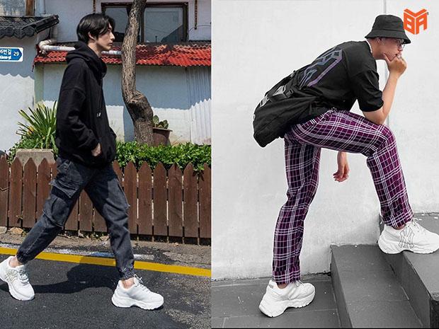 Giày nam NY phối theo phong cách street wear