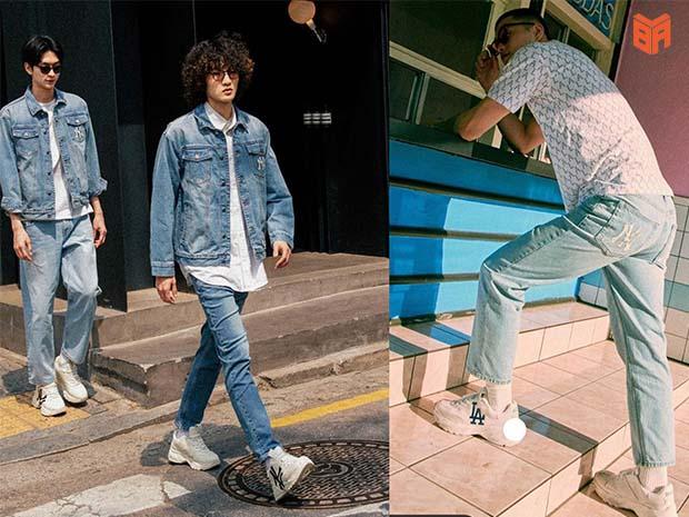 Phối với quần jeans