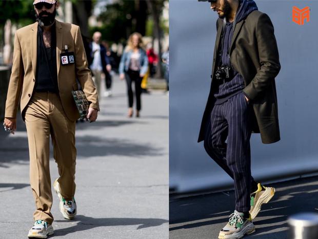 Balenciaga mặc cùng đồ vest