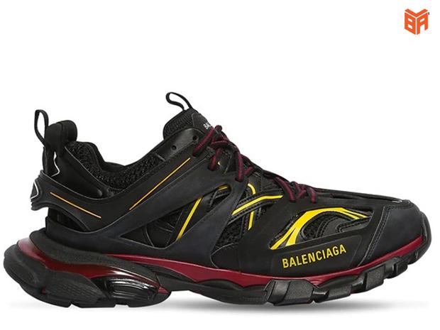 Balenciaga nữ đen vàng Track 3.0