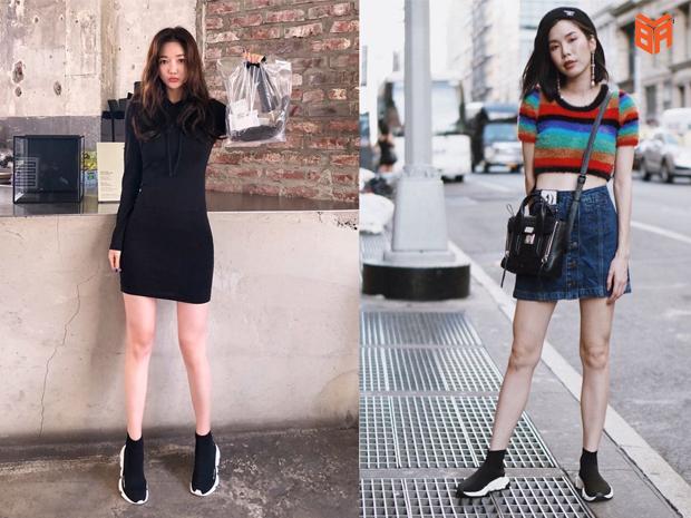 Phối cùng đầm hoặc chân váy