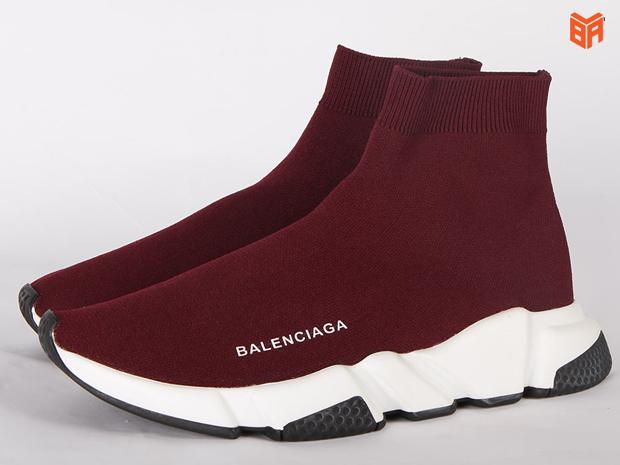 Giày Balenciaga nữ màu đỏ Speed Trainer