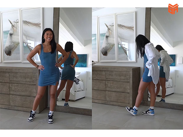 Jordan nữ cùng đầm body