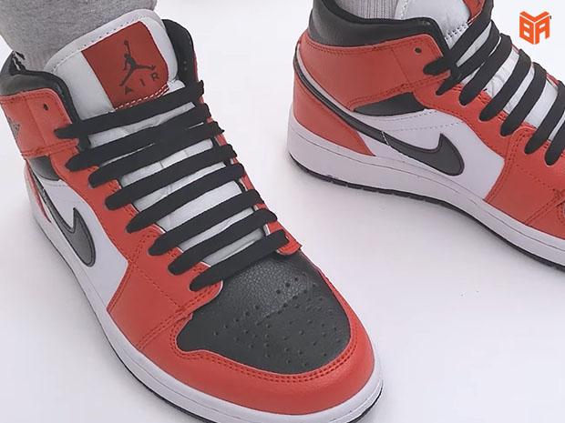 Cách buộc dây giày Jordan cổ cao ấn tượng