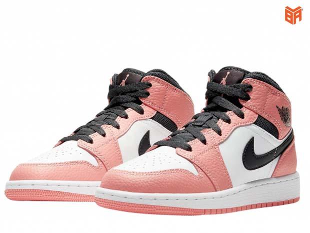 Jordan 1 Mid Gs Pink Quartz