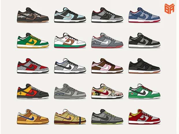 Màu sắc của mẫu giày này rất đa dạng