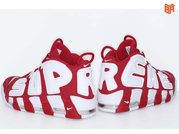 Air More Uptempo Supreme Red/Đỏ Trắng