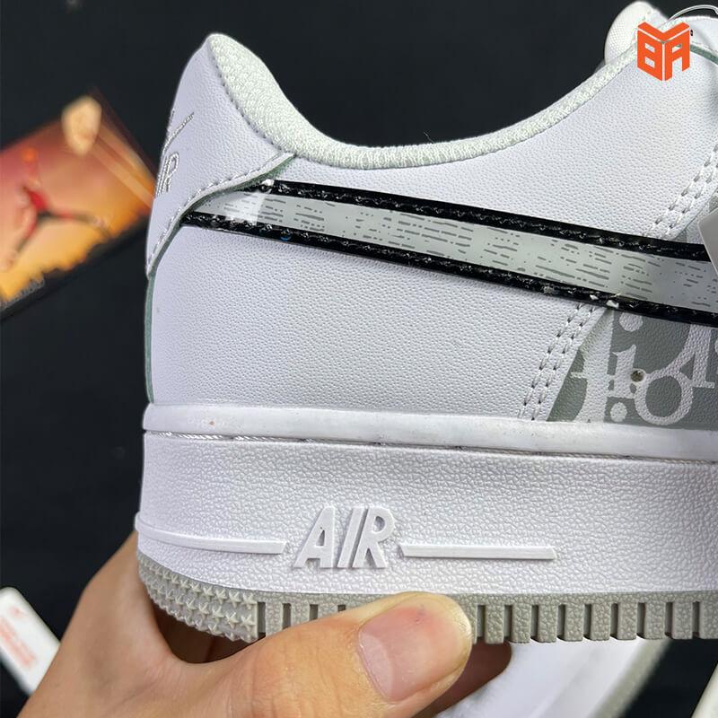 Nike Air Force 1 Dior Đế Xám - Gót