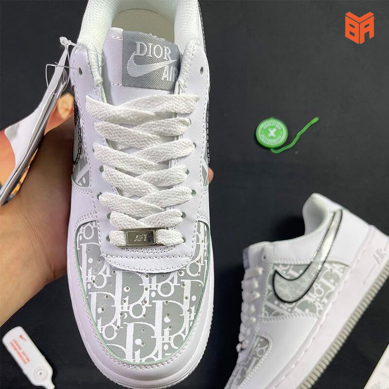 Nike Air Force 1 Dior Đế Xám - Mũi