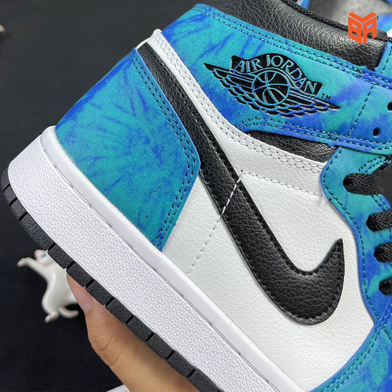Nike Jordan 1 Loang Xanh - Logo