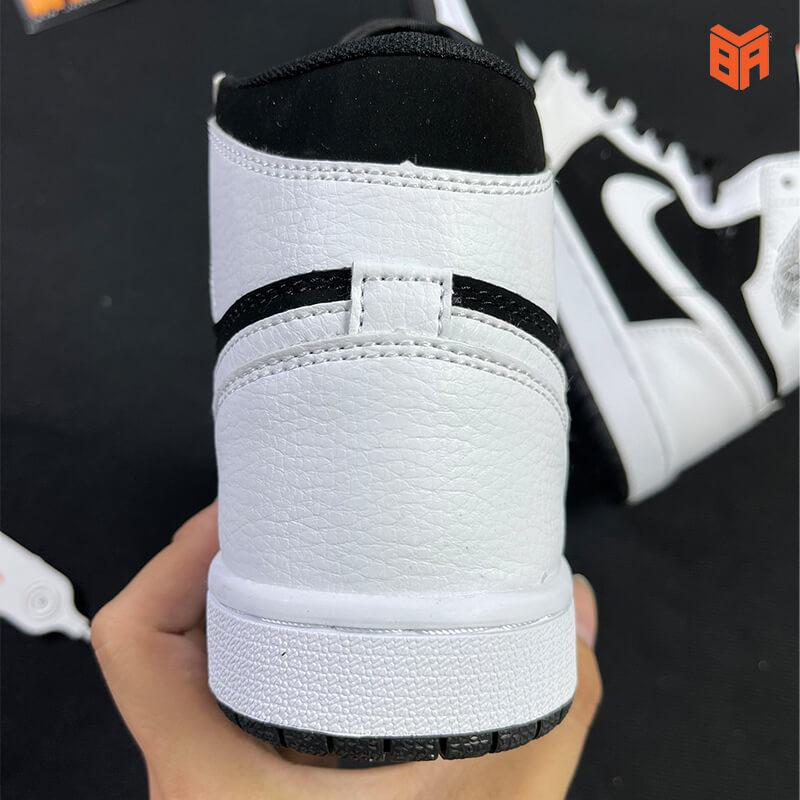 Nike Jordan 1 High Trắng Đen - Gót
