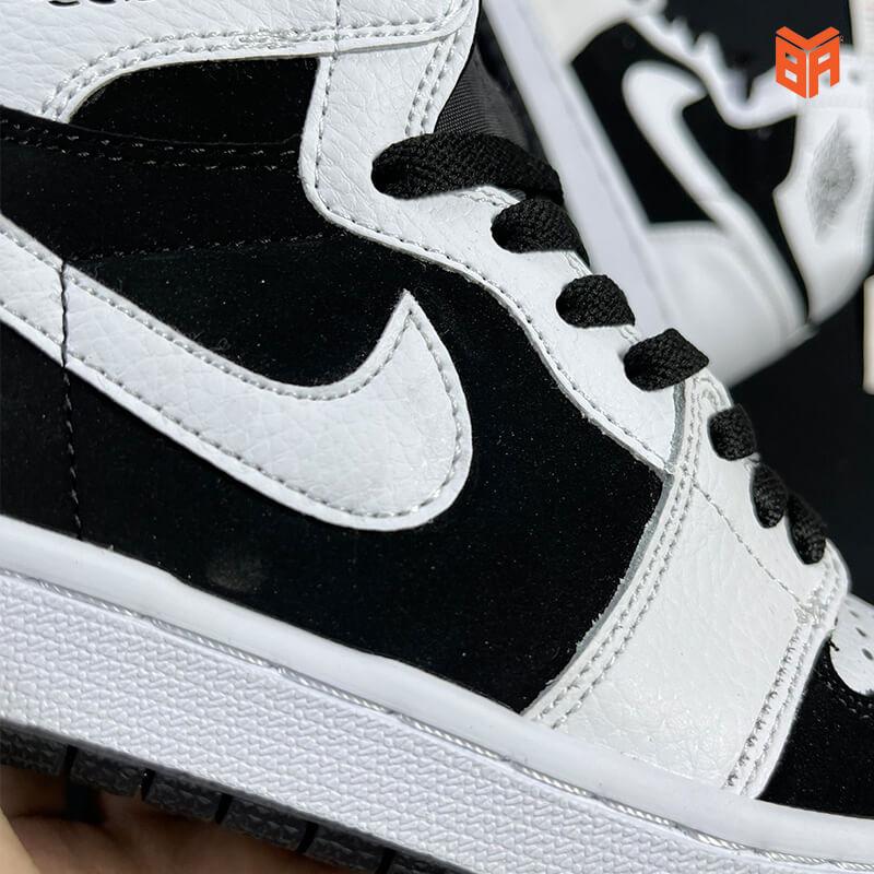 Nike Jordan 1 High Trắng Đen - Logo