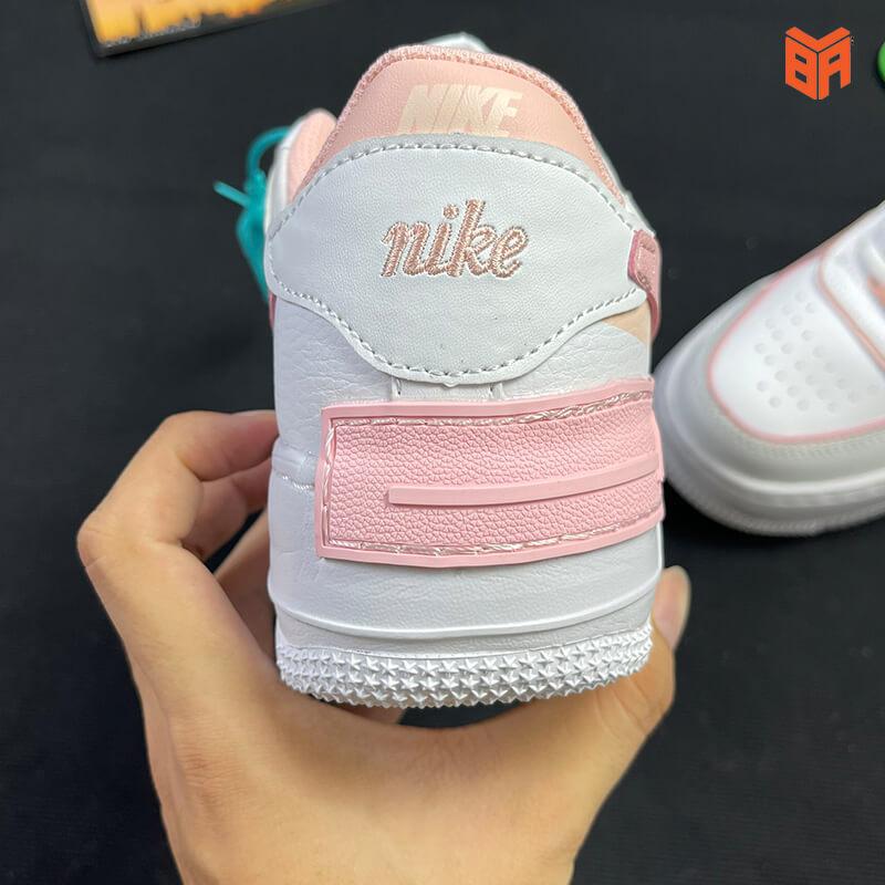 Nike Air Force 1 Shadow Trắng Hồng - Gót