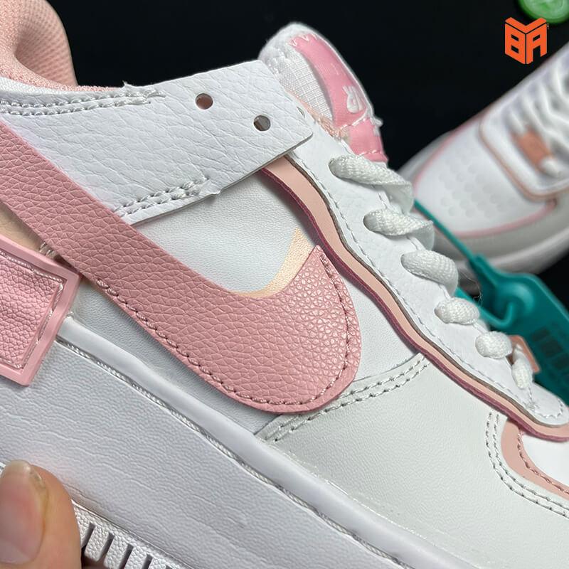 Nike Air Force 1 Shadow Trắng Hồng - Logo