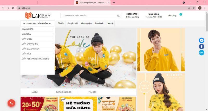 Hướng dẫn mua hàng ONLINE tại thời trang Lakbay