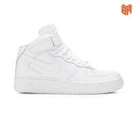 Giày Nike Air Force 1 Mid All White/Cao Cổ Trắng (Rep 1:1)