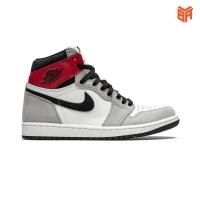 Giày Nike Air Jordan 1 Mid Light Smoke Grey/Xám Đỏ (Rep1:1)
