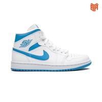 Giày Nike Air Jordan 1 Mid Unc/Trắng Xanh (Rep11)