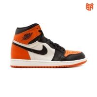 Giày Nike Jordan 1 Shattered Backboard/Cam Trắng Đen (Rep1:1)