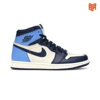 Giày Nike Jordan 1 High Obsidian/Xanh Đen (Rep1:1)