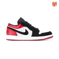 Giày Nike Air Jordan 1 Low Black Toe Đỏ Đen (Rep 11)
