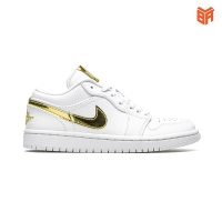 Giày Nike Air Jordan 1 Low White Metallic Gold (Rep 1:1)