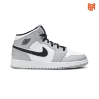 Giày Nike Jordan 1 Mid Light Smoke Grey/Xám Đen (Rep1:1)