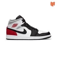 Giày Nike Air Jordan 1 Mid Se Union Black Toe/Trắng Đỏ Đen Rep(1:1)