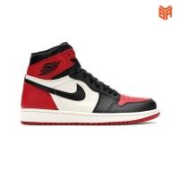 Jordan 1 Retro High Bred Toe/Đỏ Đen