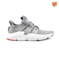 Giày Adidas Prophere Xám/Grey Trắng Vạch Gót Đỏ (Rep11)