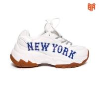 Giày MLB NY New York trắng chữ xanh