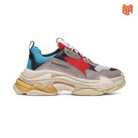 Giày Balen Triple S Xanh Đỏ (Rep 11)