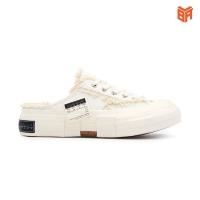 Giày Xvessel G.O.P White/Đen Slip On Đạp Gót Rep 1:1